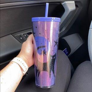 Starbucks Halloween purple cat tumbler